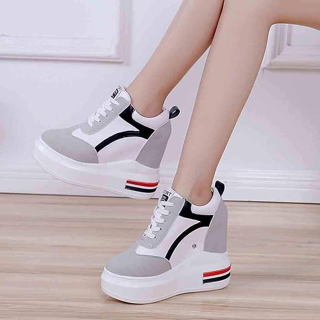 JERFER 2019 Estate Nuove Scarpe da Donna Moda Aumento Scarpe Primavera  Piattaforma Scarpe Sneakers Scarpe Casual  Amazon.it  Scarpe e borse 5d1c1c1aab7