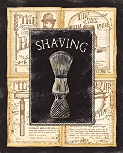 Grooming Shaving Bed u0026 Bath Vintage Bathroom Advertisement Popular Shaving Living Room Wall Art 8X10 by & vintage bathroom wall art | My Web Value