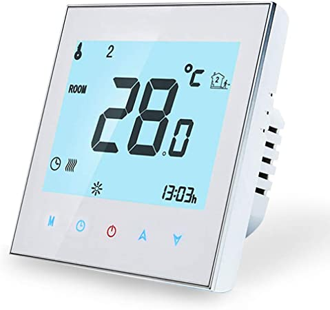 Thermostat Wifi intelligent compatible Alexa Google Home 3A Thermostat Sans fil Programmable pour le Chauffage de leau,Contr/ôleur de Temp/érature Num/érique /à T/él/écommande