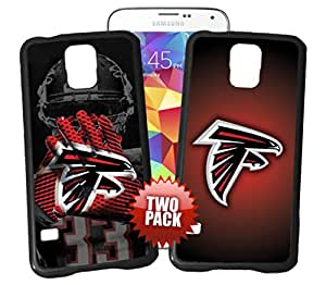 Atlanta Falcons Officially Licensed Hard Plastic Phone Case TWO PACK BUNDLE for Samsung Galaxy S4 MINI