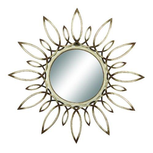 Benzara Metal Mirror (Sunburst Petals)