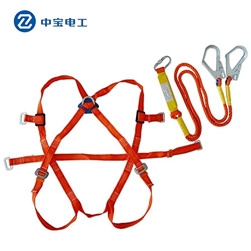 t:mon Power Conditioning Installation Aerial Work Safety Belt Five-Point seat Belt Safety Rope Outdoor Construction Electrician