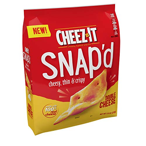 Cheez-It Snap'd Cheesy Baked Snacks, Double Cheese, 7.5oz