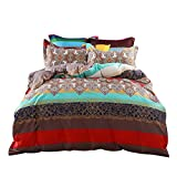 Comforbed Bohemian Ethnic Style Bed Sets Duvet Cover Set Paisley Queen Size Pattern3