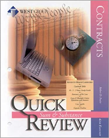 Contracts Sixth Edition Quick Review (Sum & Substance Quick Review) by Robert D. Brain (1999-06-28)