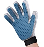 Pet Grooming Glove - Enhanced Five Finger Design - For Cat & Dog with Long & Short Fur - Gentle Deshedding Brush with Rubber Tips for Massage - Your Pet Will Love It