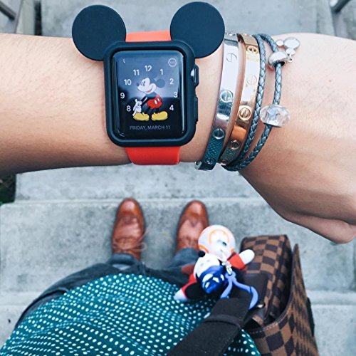 Mickey Mouse Ear Ears Iwatch Case for Apple Watch Case Band Strap Cover 38mm