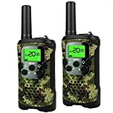 Outdoor Toys for 3-12 Year Old Boys, Easony Long Range Walkie Talkies 3-12 Year Old Girl Hunting Toys 3-12 Year Old Girl Birthday Presents Gifts for 3-12 Year Old Boys PMR446MHz 8 Channels Green ESUKAD01