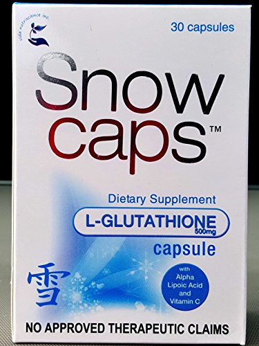 Price comparison product image Snow Caps Imported Reduced Glutathione Skin Whitening Capsules 30 capsules
