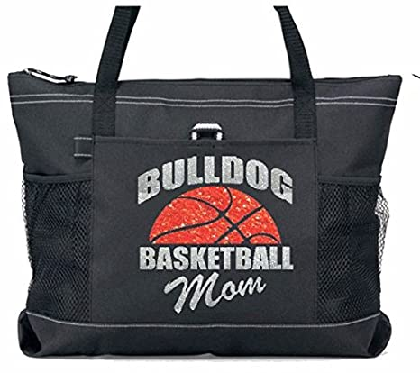 Amazon.com   Basketball Mom Tote with Custom Curved Team Name ... 5a902d22e1346
