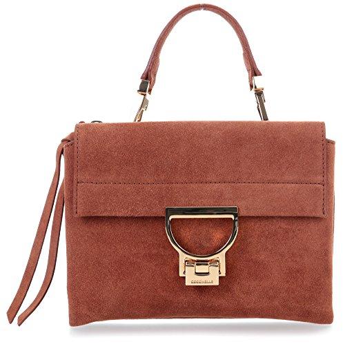 Coccinelle Arlettis Suede Mini Bag Borsa a mano pelle 20 cm braun, braun
