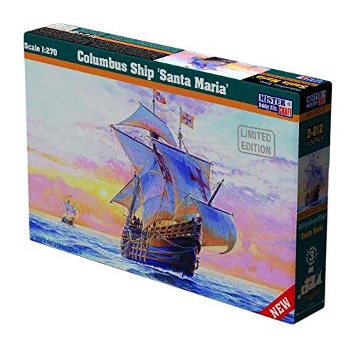 (MisterCraft MCD212 1:270 Scale Columbus Ship Santa Maria Model Kit)