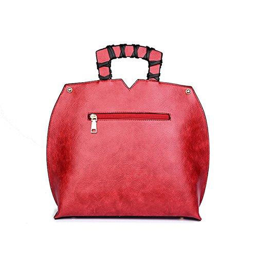 Pu Shoulder Bag Shoulder Style Chinese Embossed Bag Style Red Women National Shoulder Rx8qHZC