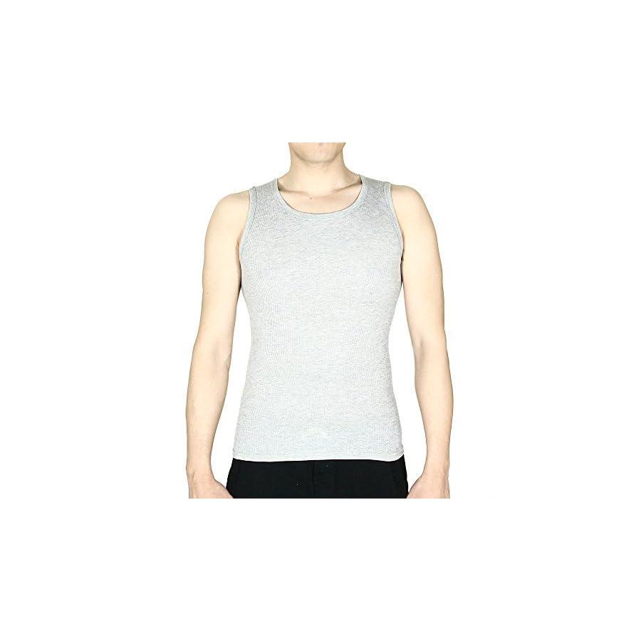 6 Packs 100% Cotton Athletic Men's Basic Tank Top