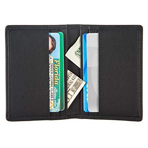 RFID Slim Bifold Wallet Card Holder - Minimalist Front Pocket Wallet for Men