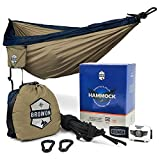 eon ticket - Lightweight 2 Person (Double) Camping Hammock Includes Headlamp, Tree Straps, Carabiners and Stuff Sack