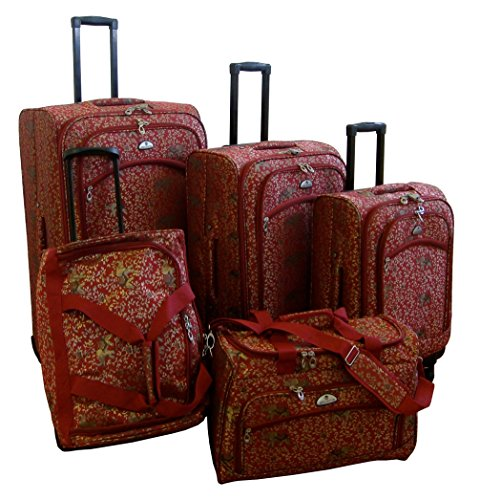 american-flyer-luggage-budapest-5-piece-spinner-set-metalic-red-one-size