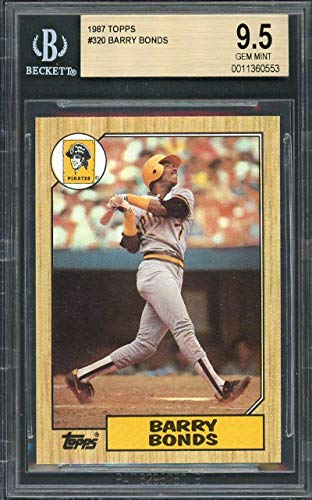- 1987 topps #320 BARRY BONDS pittsburgh pirates rookie card BGS 9.5 Graded Card