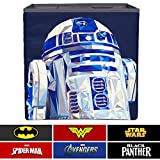 Everything Mary R2-D2 Collapsible Storage Bin by Disney - Cube Organizer for Closet, Kids Bedroom Box, Playroom Chest - Foldable Home Decor Basket Container with Strong Handles and Design