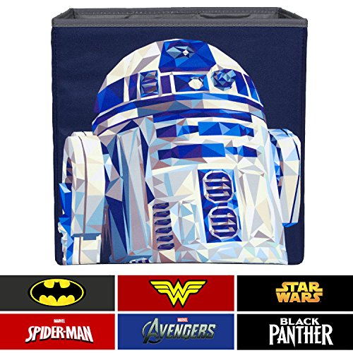 Everything Mary R2-D2 Collapsible Storage Bin by Disney - Cube Organizer for Closet, Kids Bedroom Box, Playroom Chest - Foldable Home Decor Basket Container with Strong Handles and Design by Everything Mary