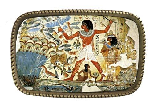 (Ancient Egyptian Art Brass Belt Buckle Made In USA)
