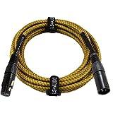 GLS Audio 15 Foot Mic Cable Balanced XLR Patch Cords - XLR Male