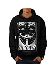 Anonymous Anarchy Men NEW Black S-5XL Hoodie | Wellcoda