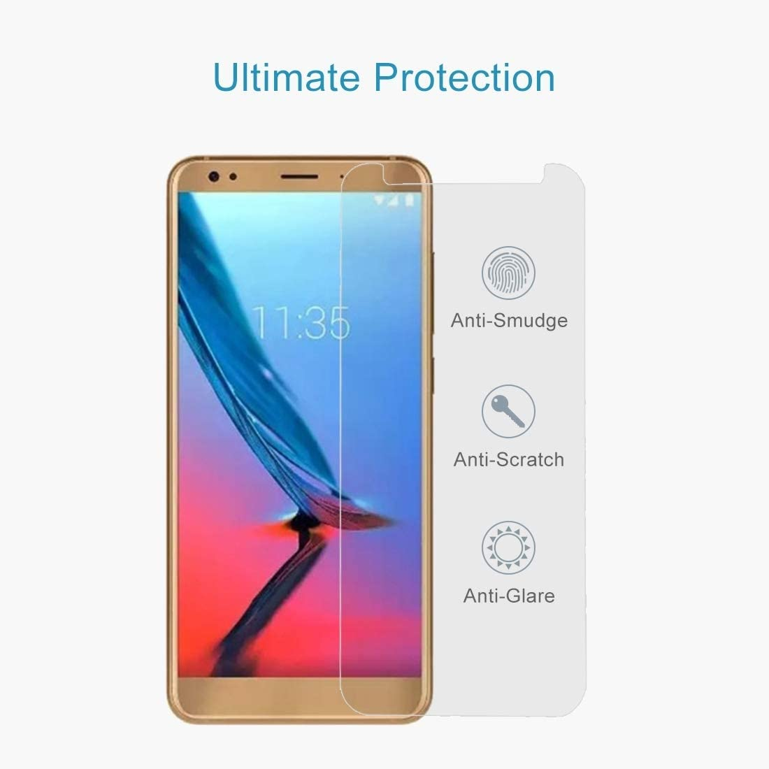 DESHENG Clear Screen Protector 100 PCS for ZTE Blade V9 Vita 0.26mm 9H Surface Hardness 2.5D Tempered Glass Screen Film Glass Film