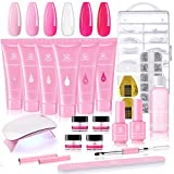 Makartt Poly Nail Extension Gel Kit, Pink Nail