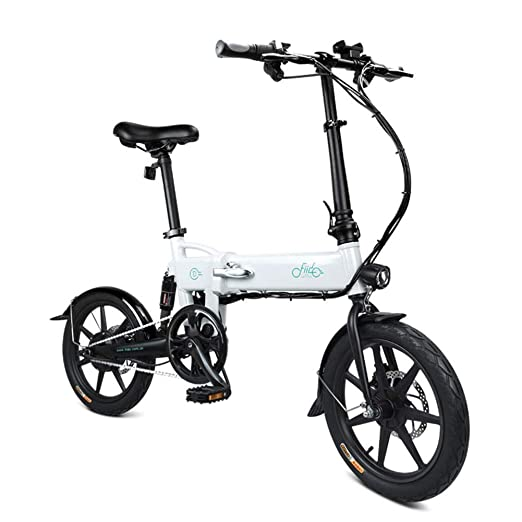 Henreal - Bicicleta eléctrica Plegable, 1 Unidad, Altura Regulable ...