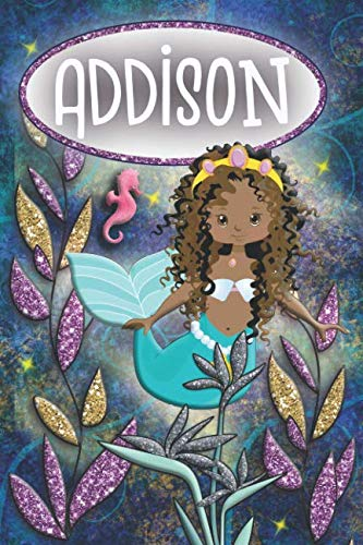 - Mermaid Dreams Addison: Wide Ruled | Composition Book | Diary | Lined Journal