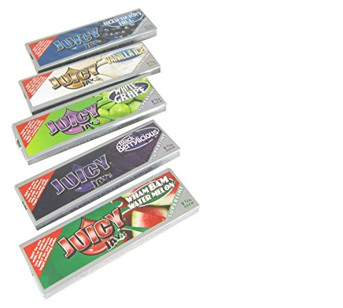 uicy Jay's Superfine 1 1/4 Flavored Rolling Paper Bundle with Storage Tin and Authentic Beamer Doob Tube ()