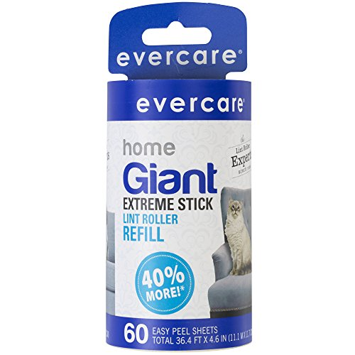 Evercare Giant Lint Roller, 60 Extra Large Sheets, 1 ea
