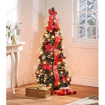 Amazon.com: Pop Up Poinsettia Tabletop Tree: Home & Kitchen
