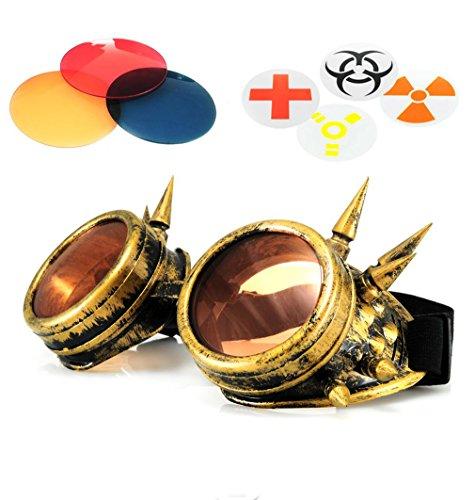 sole stile Design con da immagini 4sold Cyber nero punk oro occhiali in Z7U8WRa