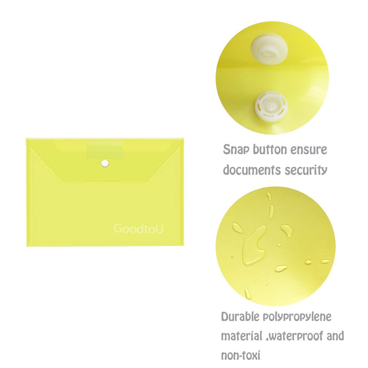 Portadocumenti Trasparente A4-36 Pz Portadocumenti di Plastica Cartellette Portadocumenti Cartelline con Bottone