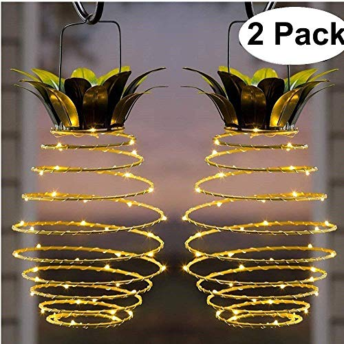KAZOKU LED String Lights, Waterproof Dimmable Decorative Fairy Lights with Remote Control, Christmas Lights with UL Listed for Bedroom, Patio, Wedding and Party (Pineapple Solar Lights)