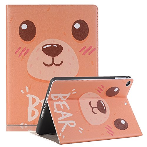 Price comparison product image TechCode iPad 10.5 Tablet Case with stand, Luxury Slim-fit Cute Cartoon Pattern Folio Smart Stand Protective Case PU Leather Book Cover With Card Slots & Pencil Holder for Apple iPad Pro 10.5 inch