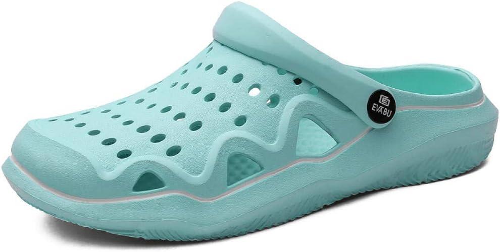 Sandalias de Pareja Zapatos Casuales Zapatillas de Playa Rosa Zapatillas Zapatillas Sandalias de jardín Mujeres jardín Zapatillas de Madera Zapatillas Zapatillas Unisex-4_8: Amazon.es: Zapatos y complementos