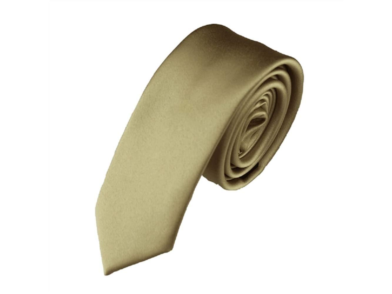 FERFERFERWON Corbata de Seda Corbata de Color sólido de la Moda de ...