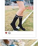 Generic Korean version of pure white cotton socks women girls lady thin section in tube socks tide wind socks two bars Japanese Korean alphabet Summer School
