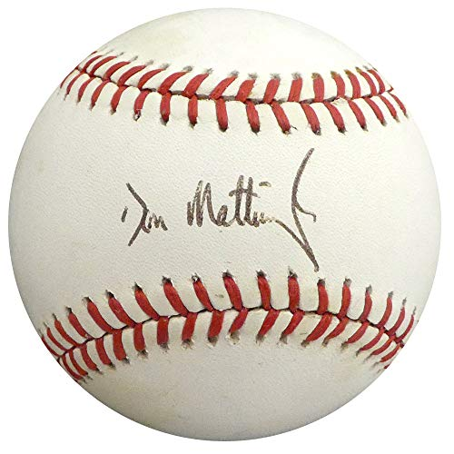 Don Mattingly Autographed Official AL Baseball New York Yankees Beckett BAS #H10205