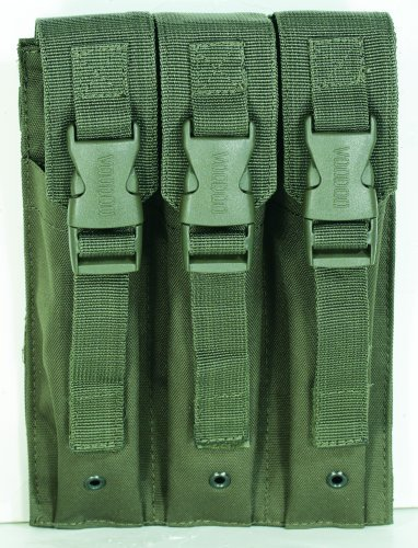 VooDoo Tactical 20-9340004000 Mp5 Mag Pouch, OD, Triple ()