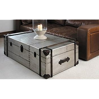 zallzo commander aluminum storage trunk coffee table kitchen dining. Black Bedroom Furniture Sets. Home Design Ideas