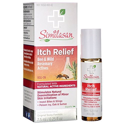 Similasan Itch Relief Roll-On .25 Fluid Ounce, Stimulates Natural Defenses for Relief of Minor Itch or Irritation, Formulated with Natural Active Ingredients