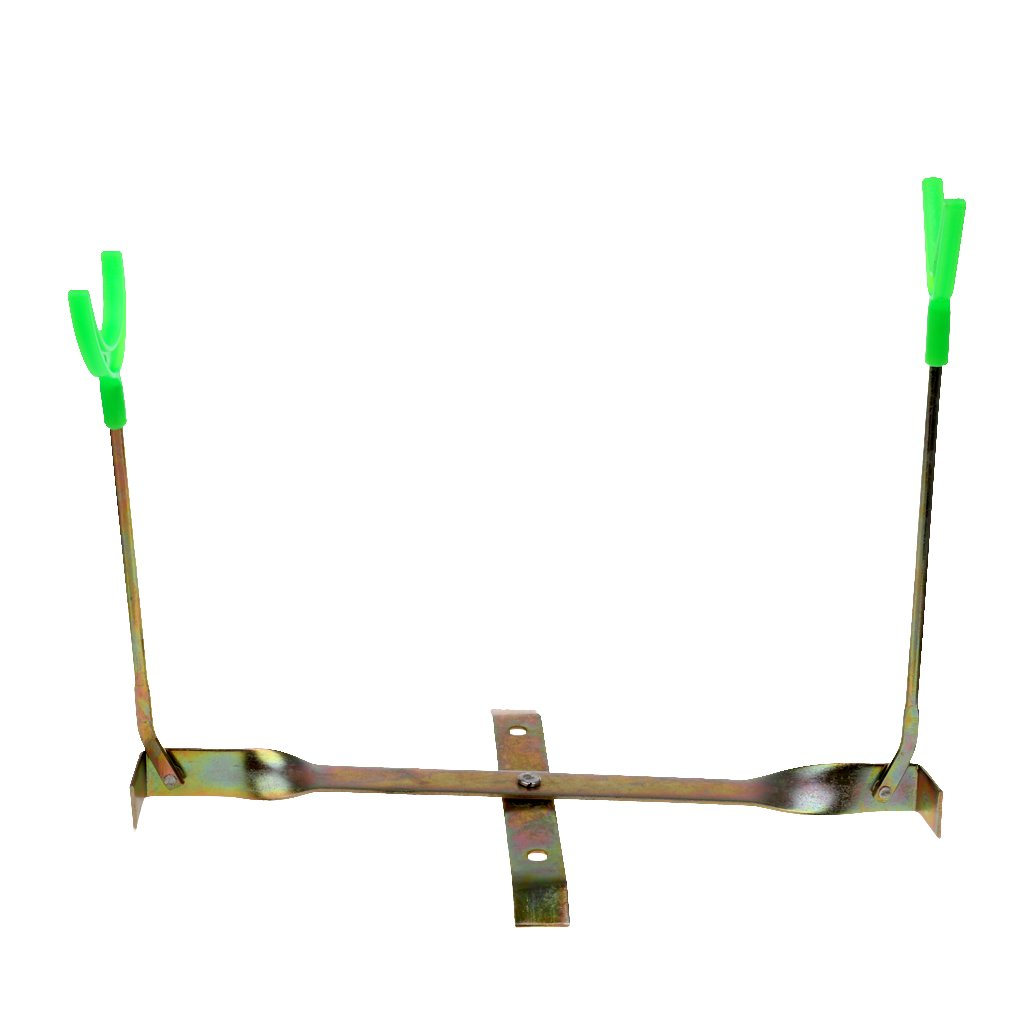 MonkeyJack Ice Fishing Rod Rack Dual-Holder Compact Pole Gripper Rest 360 Rotation Adjustable Support