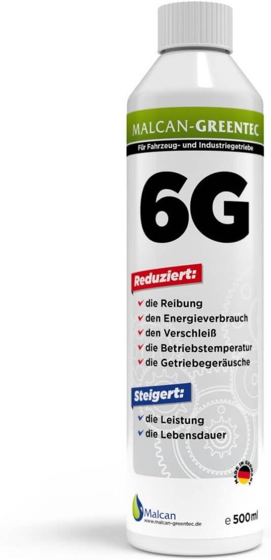 Malcan Greentec 6g Getriebe Öl Additiv 500ml Für Manuelle Schaltgetriebe Getriebeöl Zusatz Zur Verschleiß Schutz Und Getriebe Restaurierung Auto