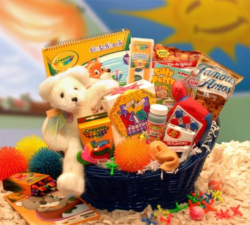 (Blast of Fun Activity Gift Basket for Kids -Organic)