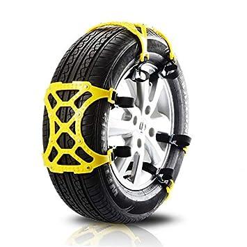 Lispeed Universal Cadenas de Nieve Rueda Cadena de Nieve (Auto Neumático bienenensehne Antideslizante Ajustable: Amazon.es: Coche y moto