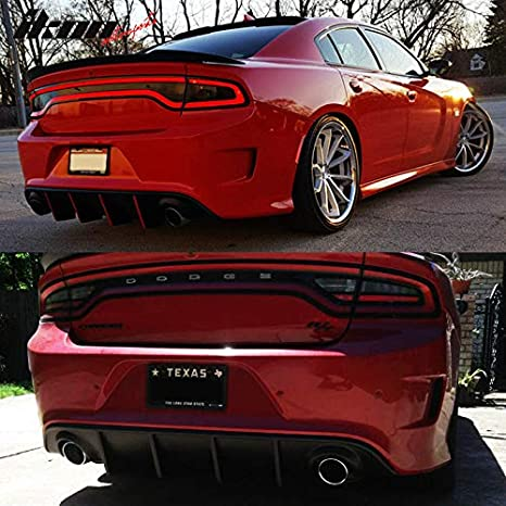 PP OE Style GaofeiLTF Rear Bumper Diffuser Fits 2015-2019 Dodge Charger Rear Lip Body Splitter Valance